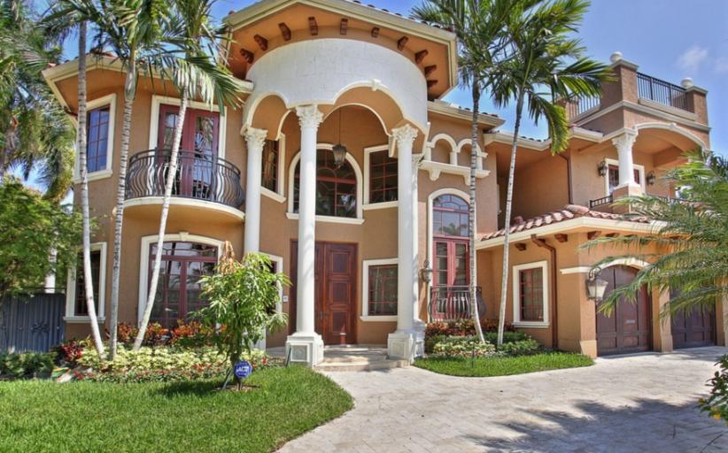 $3.8 Million Mediterranean Waterfront Home In Fort Lauderdale, FL