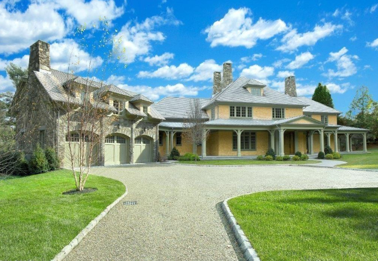$8.295 Million Shingle & Stone Mansion In Greenwich, CT