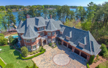 $2.85 Million Lakefront Brick Mansion In Mooresville, NC