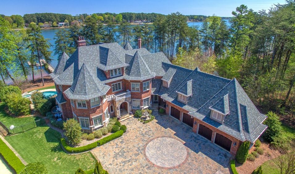 $2.85 Million Lakefront Brick Mansion In Mooresville, NC