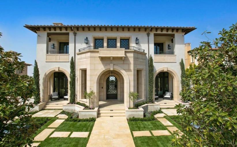 $19.995 Million Newly Built Mediterranean Mansion In Newport Beach, CA