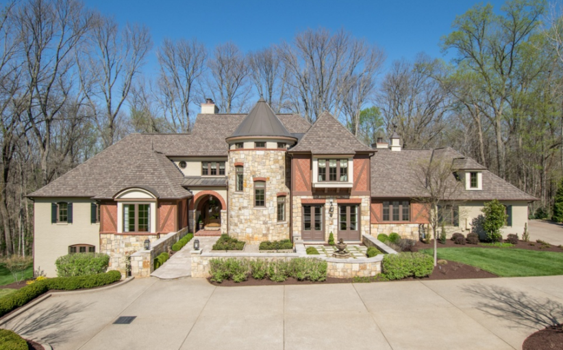 $1.895 Million Brick & Stone Mansion In Prospect, KY