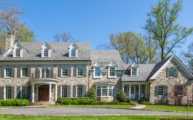 12,000 Square Foot Stone Mansion In Bethesda, MD