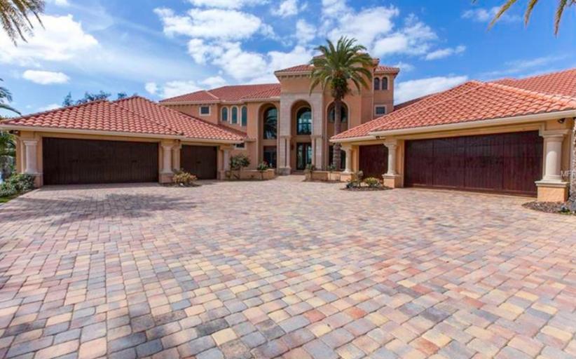 $3.4 Million Mediterranean Lakefront Mansion In Tampa, FL