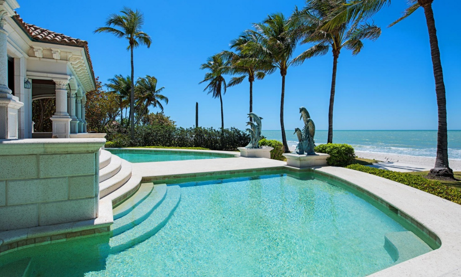 14 9 Million Mediterranean Beachfront Home In Naples Fl