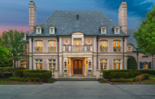 14,000 Square Foot French Country Inspired Brick Mansion In Dallas, TX