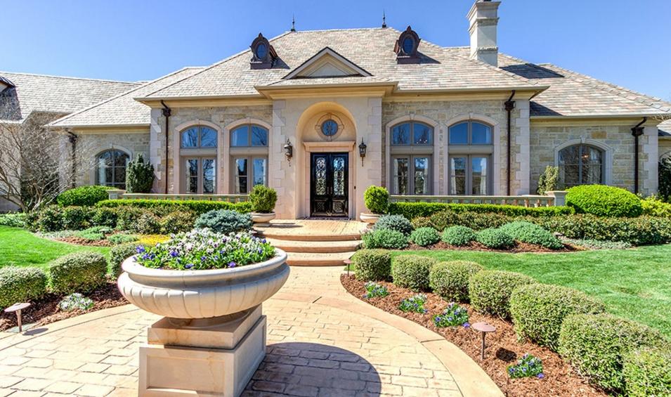 $2.195 Million Stone Country Club Home In Oklahoma City, OK