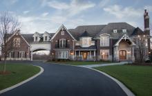 11,000 Square Foot Brick & Stone Mansion In Lake Barrington, IL