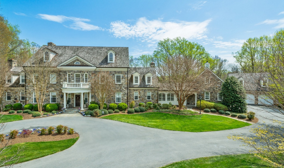 $4.2 Million Colonial Stone Mansion In Bethesda, MD