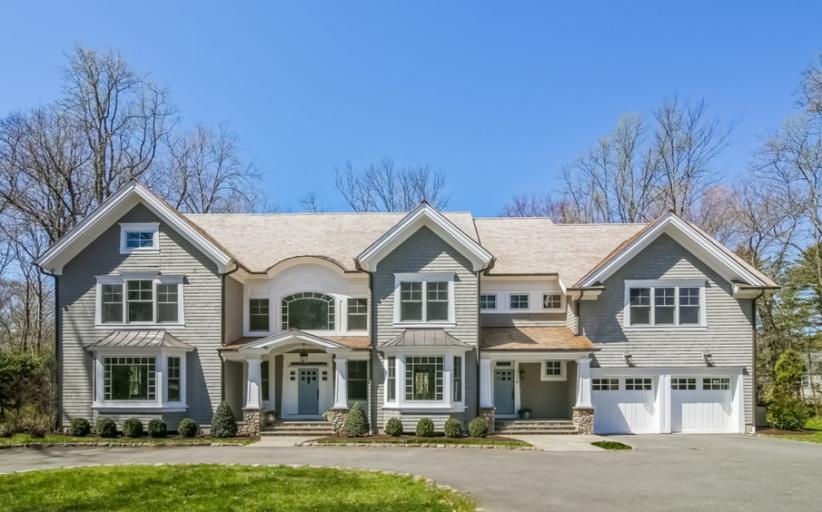 $3.45 Million Colonial Shingle Home In Darien, CT