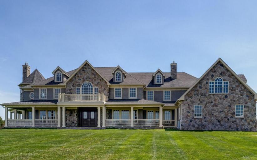 $2.3 Million Stone & Shingle Mansion In Colts Neck, NJ