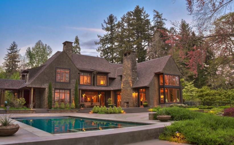 $4.895 Million Stone & Shingle Waterfront Home In Vancouver, WA