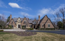 10,000 Square Foot Brick & Stone Mansion In Bloomfield Hills, MI
