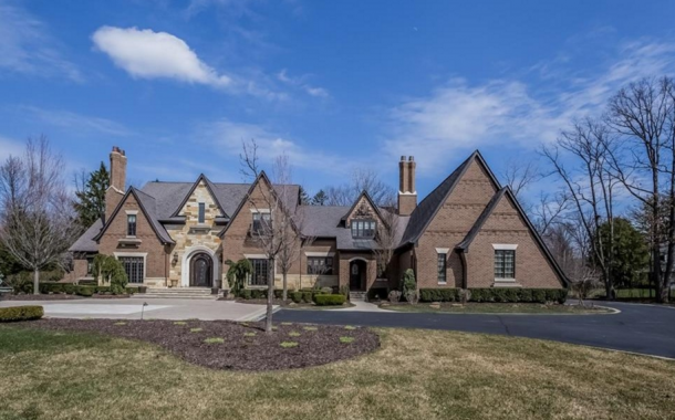 10,000 Square Foot Brick & Stone Mansion In Bloomfield Hills, MI