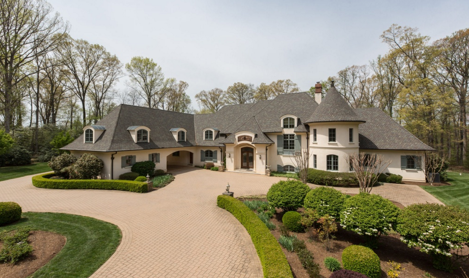 11,000 Square Foot French Normandy Mansion In Great Falls, VA