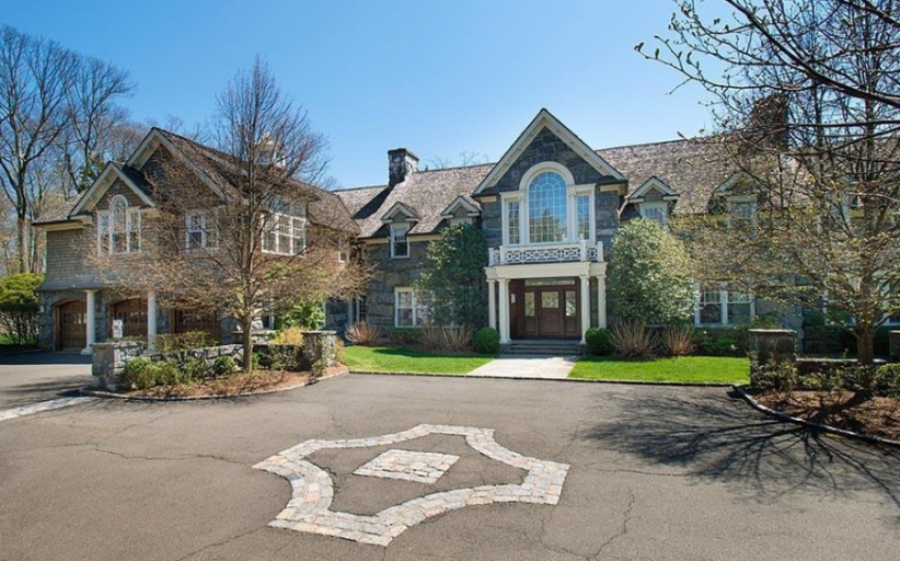 10,000 Square Foot Shingle & Stone Mansion In Greenwich, CT
