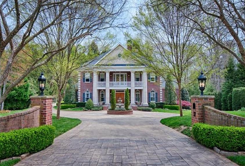 $3.6 Million Georgian Brick Mansion In Asheville, NC