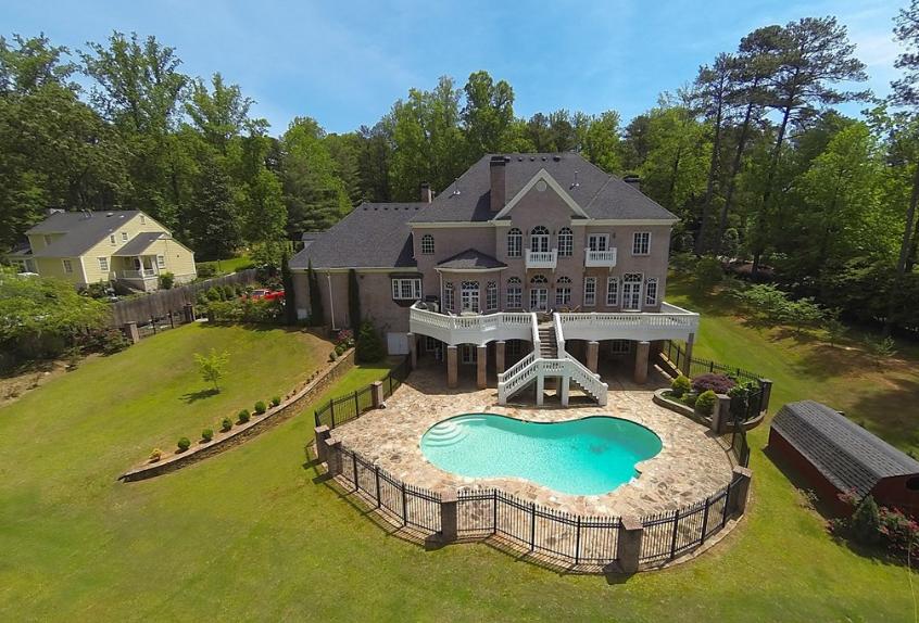 $3.4 Million Brick Mansion In Atlanta, GA