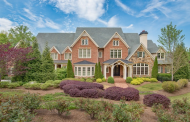 10,000 Square Foot Brick & Stone Mansion In Roswell, GA
