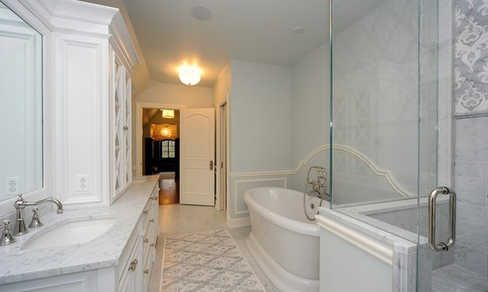 Million newly built stone home in lake forest il for Bathroom 75 million