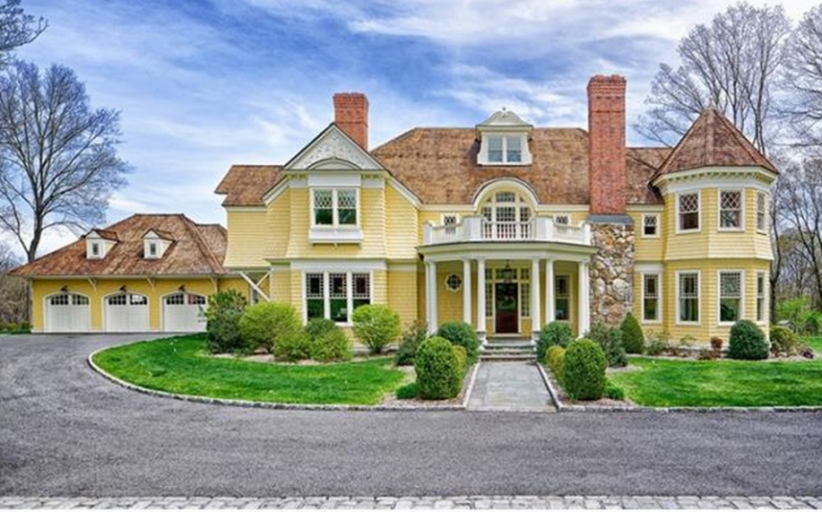 $7.595 Million Shingle Home In Weston, CT