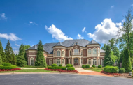 $4.2 Million Lakefront Brick Mansion In Alpharetta, GA