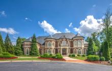 $4.2 Million Lakefront Brick Mansion In Alpharetta, GA