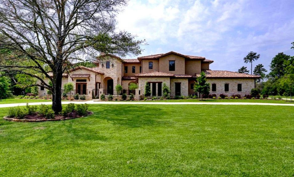 15,000 Square Foot Newly Built Stone & Stucco Mansion In Cypress, TX