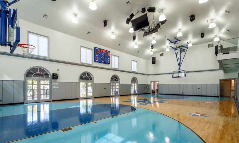 Incredible 32 million french inspired estate in dallas for Indoor basketball court for sale