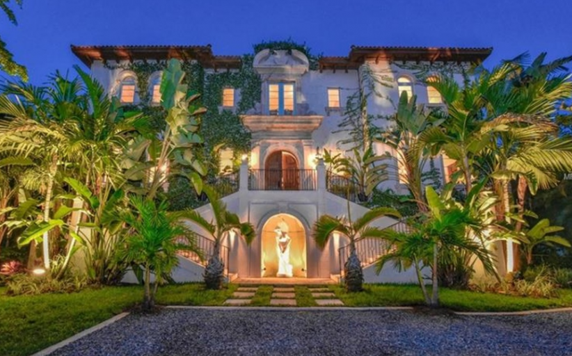 $6.4 Million Mediterranean Waterfront Mansion In Sarasota, FL