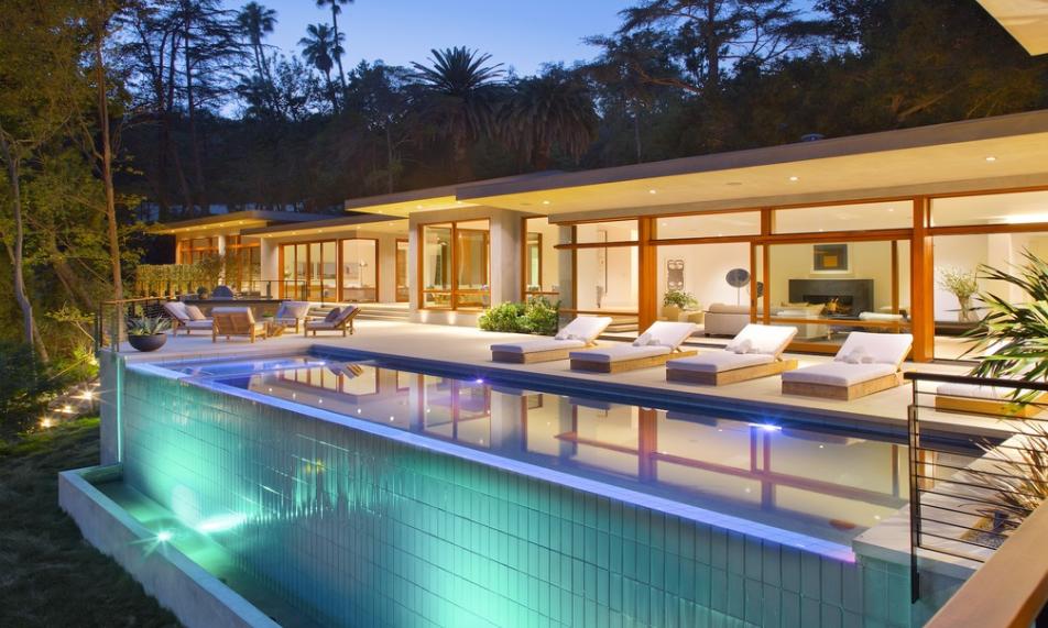 $16.9 Million Mid Century Modern Mansion In Beverly Hills, CA