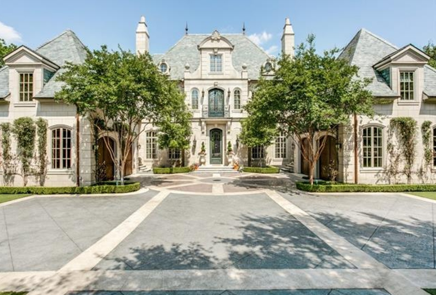 $14.5 Million French Inspired Stone Mansion In Dallas, TX