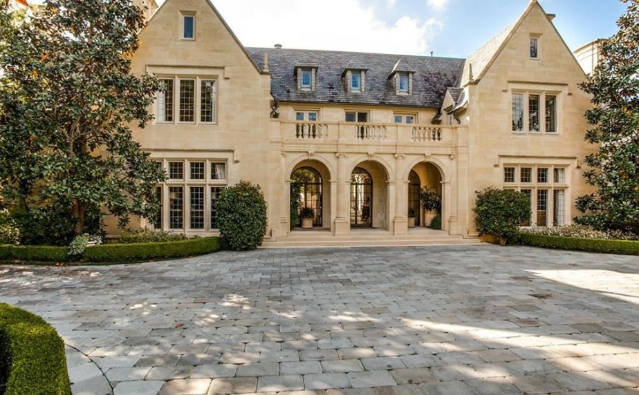21 million english tudor revival stone mansion in dallas