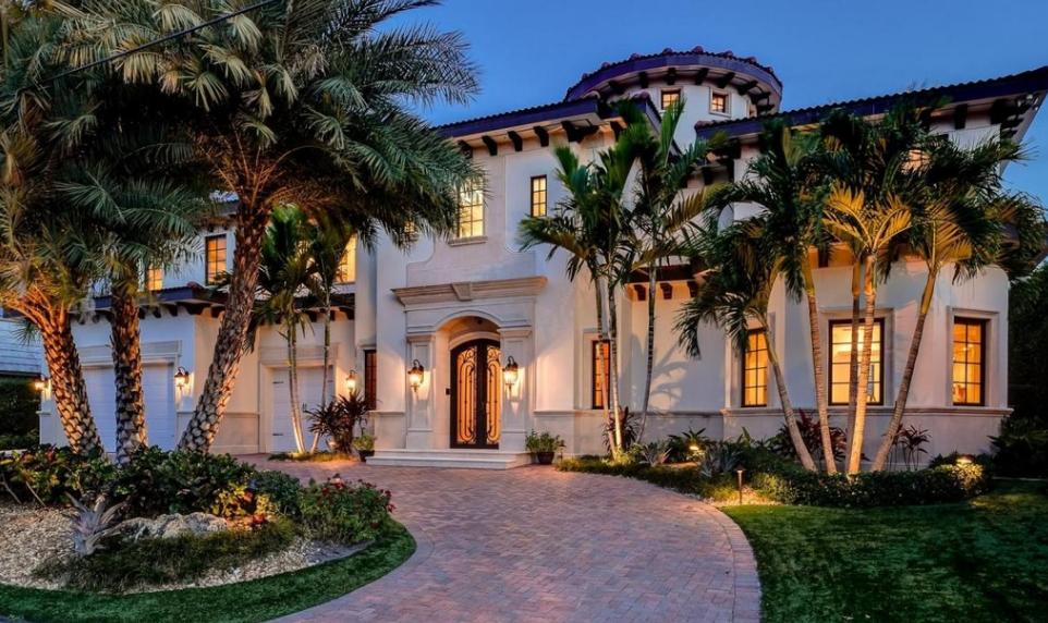 $3.2 Million Mediterranean Waterfront Home In Riviera Beach, FL