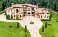 11,000 Square Foot Mediterranean Mansion In Durham, NC