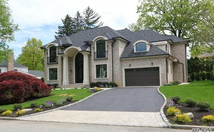$3.5 Million Newly Built Brick Home In Great Neck, NY