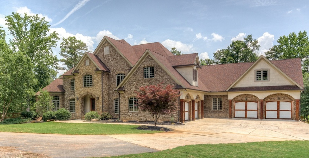 14 000 Square Foot Lakefront Brick Mansion In Fayetteville