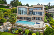 $8.8 Million Contemporary Lakefront Mansion In Mercer Island, WA