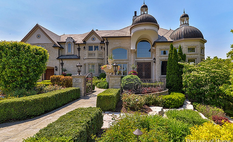 10 000 square foot stone stucco mansion in naperville for Most expensive house in illinois