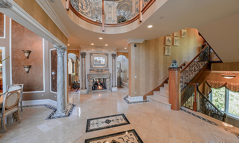 10 000 Square Foot Stone Amp Stucco Mansion In Naperville