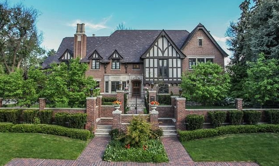 10000 square foot brick tudor mansion in denver co