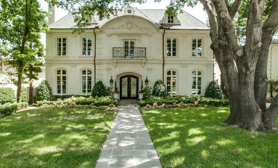 $2.995 Million French Inspired Stone Home In Dallas, TX