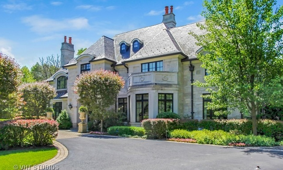 17,000 Square Foot Stone Mansion In Highland Park, IL