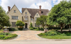 13,000 Square Foot English Inspired Stone Mansion In Dallas, TX