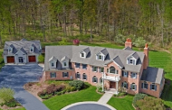 $2.15 Million Colonial Brick Home On 24 Acres In Long Valley, NJ