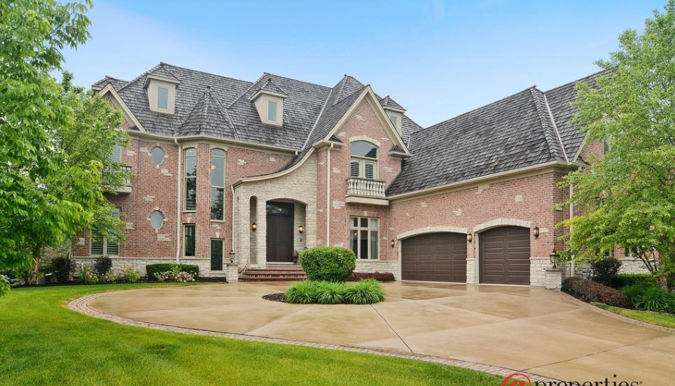 Brick & Stone Mansion In Vernon Hills, IL