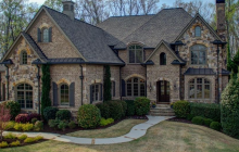 11,000 Square Foot Brick & Stone Mansion In Suwanee, GA