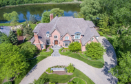 10,000 Square Foot Lakefront Brick Mansion In Saint Charles, IL