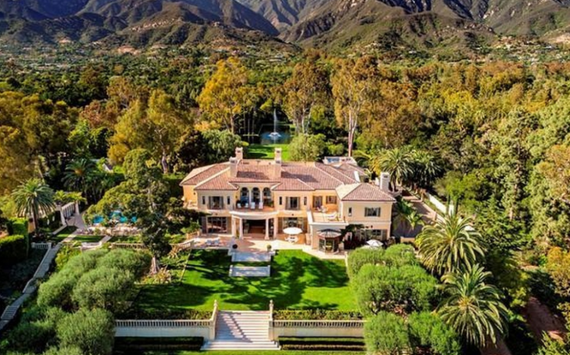$52 Million Italian Inspired Estate In Santa Barbara, CA