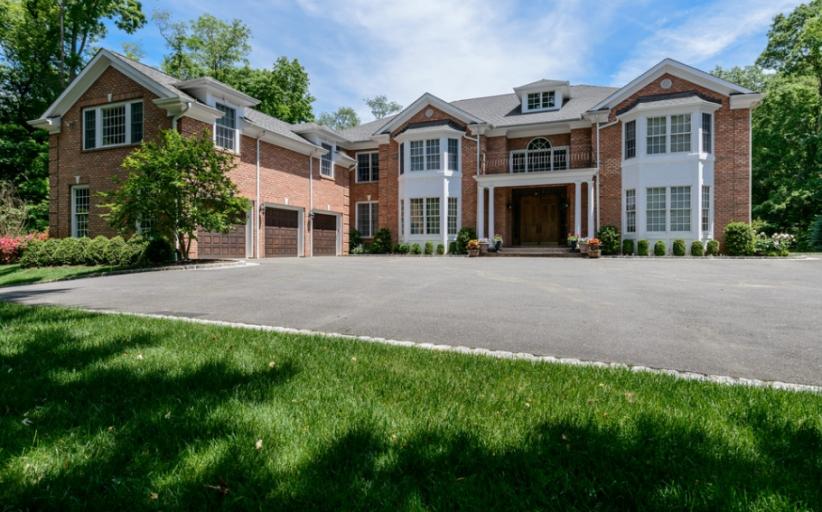 $3.4 Million Colonial Brick Home In Glen Head, NY